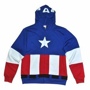 Men's Marvel Captain America Masked Hoodie
